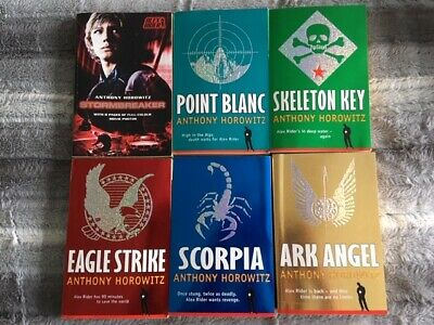 Anthony Horowitz  books with young spy Alex Rider set of 6 Children Young Adult