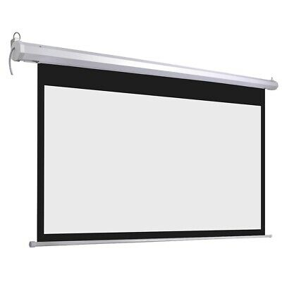 "100"" Electric Motorized HD Projector Screen Projection Home Theater Cinema 16:9"