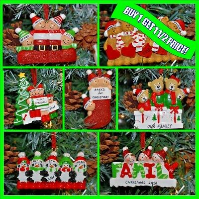Personalised Family Christmas XMAS Tree Decoration Bauble Gift Ornament🌲🌲