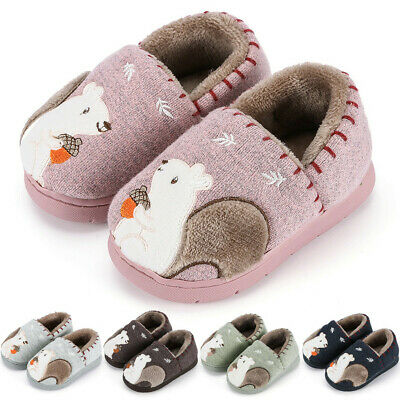 9M-4.5Y Toddler Baby Boys Girls Indoor Warm Shoes Kids Cute Animal Home Slippers