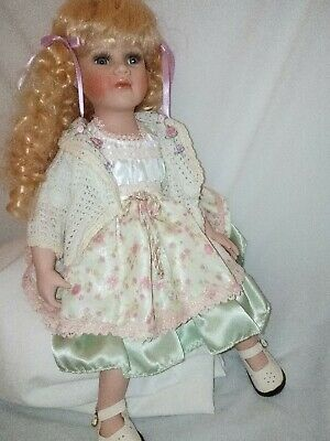 "20""/52cm Sitting Porcelain Doll Beautiful Ringlets Detailed"
