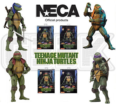 "NECA Teenage Mutant Ninja Turtles 1990 Movie Official 7"" TMNT Action Figure UK"