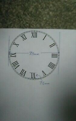 FOR CAFETIERE94  ONLY 73mm Clock face/ dial wet transfers