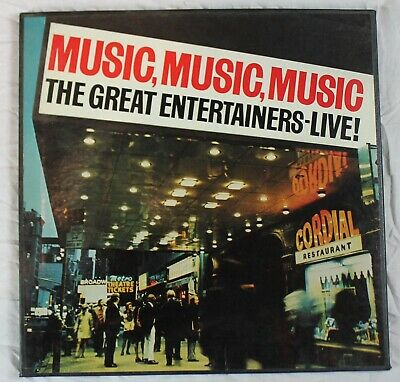 Music Music Music, The Great Entertainers Live, Box set 3 LP's, Columbia House