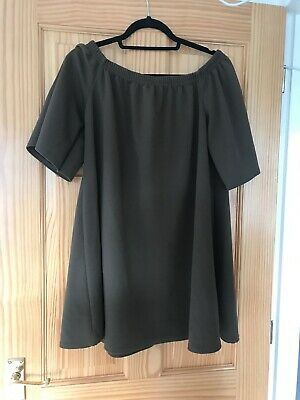 boohoo maternity Off The Shoulder  dress size 12