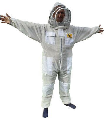 Ventilated 3 Layer XX LARGE Beekeepers Bee Suit Veil Beekeeping Protective