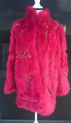 NEW MOSCHINO x H&M PINK  FUR Coat w/CHAINS-SOLD OUT SIZE S