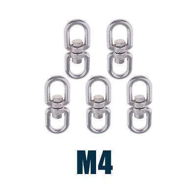 5-Piece Stainless Swivel Ring Connector Hook Heavy-duty for Hammock -M4