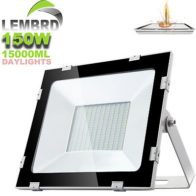 150W LED Security Light LEMBRD Cool White/Day Outdoor Garden Lighting Floodlight