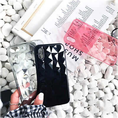 Luxury Crystal 3D Diamond Clear Case For iPhone Soft TPU Phone Cover P*CA TO`S