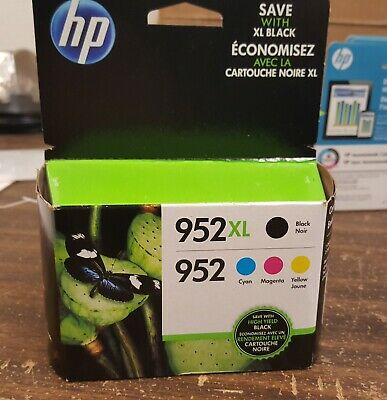 4-PACK HP GENUINE 952 Black /& Color Ink RETAIL BOX OFFICEJET PRO 8200 8210