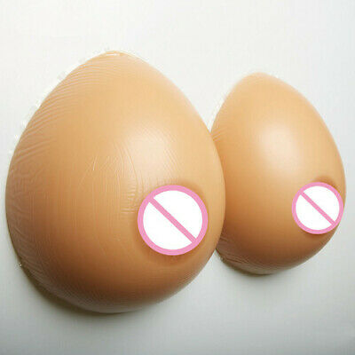 1000g/pair D Cup Silicone Breast Forms Mastectomy Silicone Breast Invisible Bra