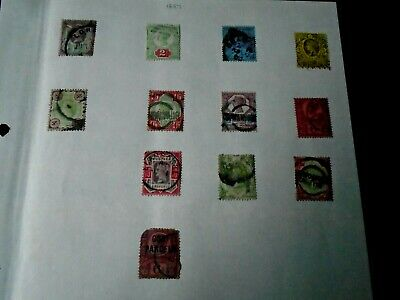 Old GB Queen Victoria stamp collection mixed condition, some damage