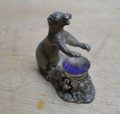 Otter Small Pewter Figure Crystal Animal Ornament Small Free UK P+P