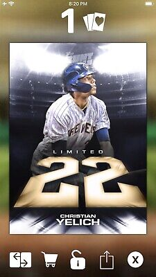Topps MLB Bunt *Digital* 2019 Christian Yelich Brewers Limited 22cc 5x Boost