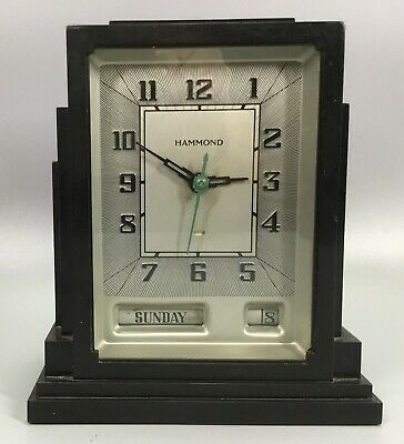 Hammond Skyscraper Gregory Art Deco Bakelite Calendar Clock