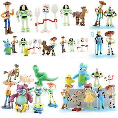 Toy Story 4 Woody Lightyear Rex Alien Forky Buzz Bunny Figure Doll Gifts Collect
