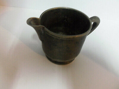 Vintage Wear Brite Nickel Silver Soldered Small Creamer Pitcher Grand Silver Co