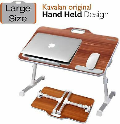 Kavalan Portable Laptop Table with Handle Angle Adjustable Stand Desk, Cherry 06