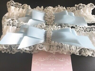 Couture Garter Set Offwhite Something Blue