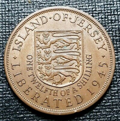 Jersey 1/12 of a shilling coin 1945