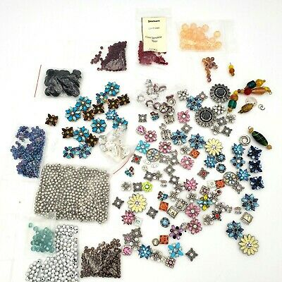 Jewelry Beads Findings Charms Lot of Over 1 Lb