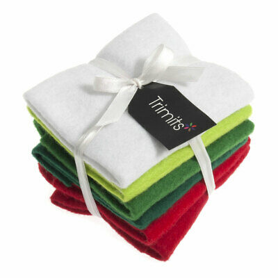 Trimits | Felt Bundle | Christmas | 6 Sheets | 23 x 30cm | Assorted | AFB01