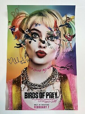 Birds Of Prey Signed Poster Margot Robbie Nycc Harley Quinn Dc Comics