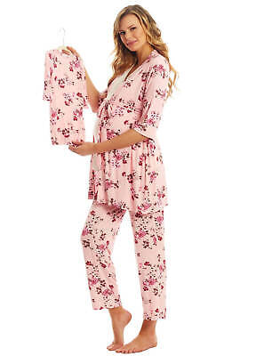 NEW - Everly Grey - Analise 5 Piece Maternity PJ Gift Set in Pink Blossom