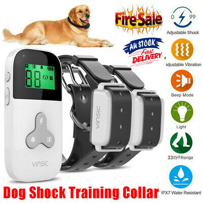 Anti Barking Collar No Bark Dog Training Remote Control Rechargeable Pet Trainer