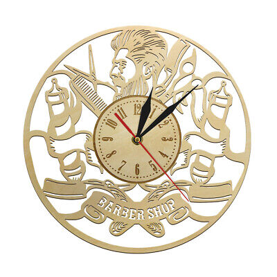 Hairdress Wall Clock Watch Barber Eco Friendly Natural Barber Shop Sign Decor