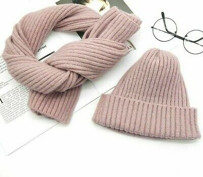 Knitted Winter Warm Hats Scarf For Ladies High Quality Fashion Beanie Head-Wears