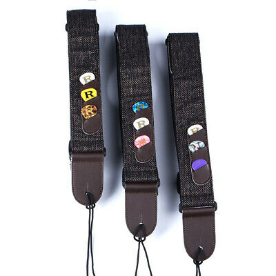 PU Leather Guitar Strap Webbing Belt For Classic Electric Acoustic Bass Guitar