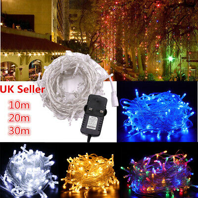 100/200LED Solar/Battery Waterproof Silver Wire String Xmas Fairy Light Plug In