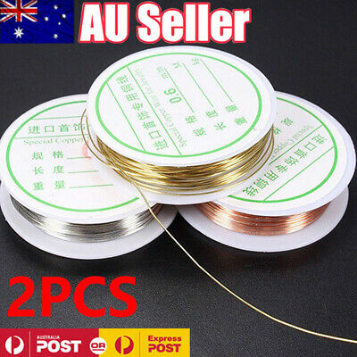 2 PCS 0.3mm-0.8mm Plated Copper Wire Beads Jewelry Making Accessories DIY Craft