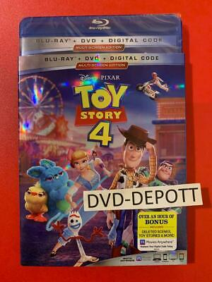 TOY STORY 4 BLU-RAY + DVD + DIGITAL & Slipcover Brand New FAST  Free Shipping