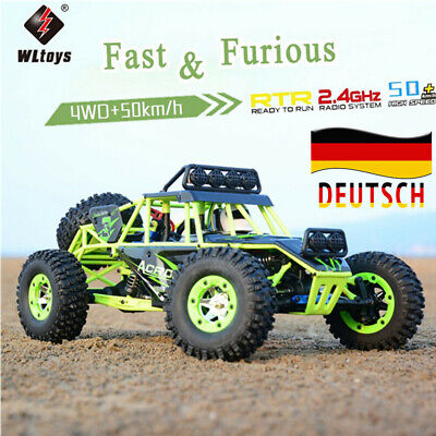 Wltoys 1/12 2.4G 4WD 50km/h Electric Brushed Crawler  RC Car Auto Off [Geschenk]