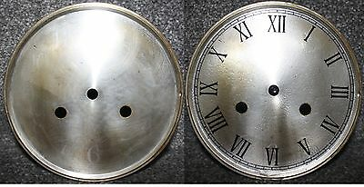 "Vintage 6"" clock face/dial Roman numeral number restore/renovation wet transfer"