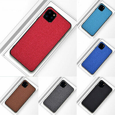 Soft Hybrid Cloth Fabric+TPU For Apple iPhone 11 Pro Max Ultra Slim Case Cover