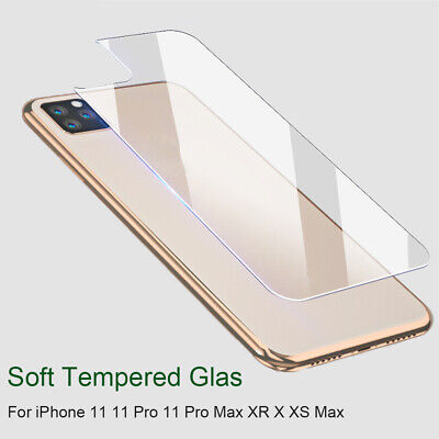 HD Soft Tempered Glass Back Film Protector For iPhone 11/11 Pro Max/ X/XS Max