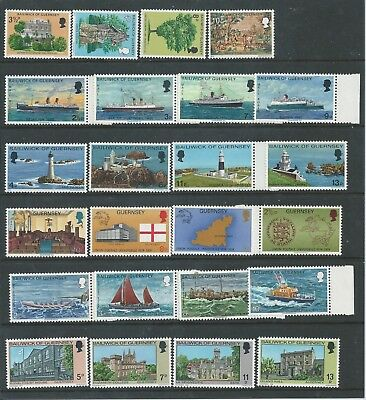 Guernsey - 1974 to 1976 - Six different commemorative sets - Un-mounted mint