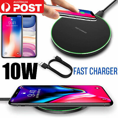 2019 New Qi Wireless Charger Pad Mat Receiver For iPhone 11 XS XR 8 Samsung S10