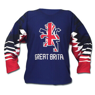 Team Great Britain Blue Ice Hockey Jersey 2019 Custom Name and Number