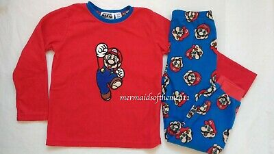 SUPER MARIO Gaming Boys Boy Fleece Cosy Winter Pyjamas PJS Nightwear New Primark