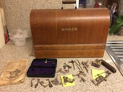 Vintage 1937 Singer Sewing Machine, Electrified, EB034501, 66K model. Exc cond.