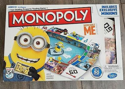 MONOPOLY - Despicable Me / Minions Board Game - Hasbro - Lovely Condition