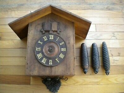 Large Antique Black Forest Cuckoo Clock German Germany G.K. GK Parts