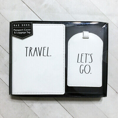 Rae Dunn Passport Holder Case & Luggage Tag Travel Gift Set