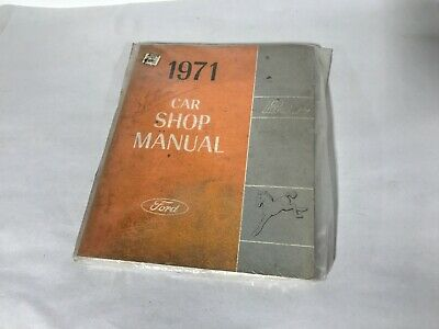1971 Ford Pinto Auto Shop Manuell 71