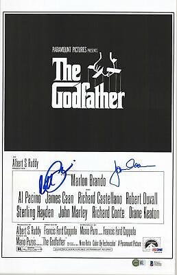 "Al Pacino & James Caan The Godfather Signed 11"" x 17"" Movie Poster - Beckett"